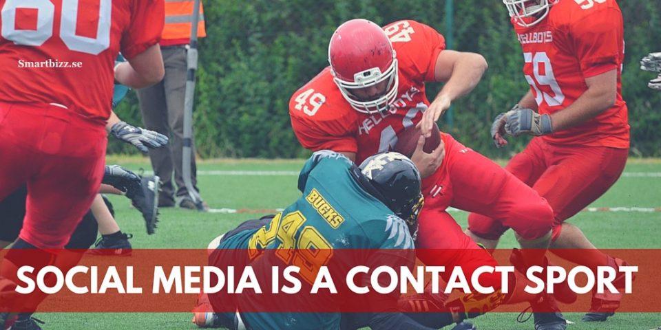 sociala medier contact sport