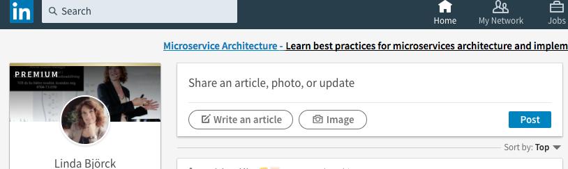 Skriv artiklar på LinkedIn