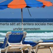 sociala medier semester