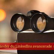 LinkedIn sökfunktion