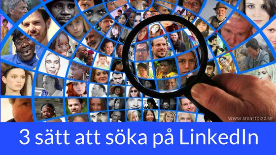 LinkedIn sök