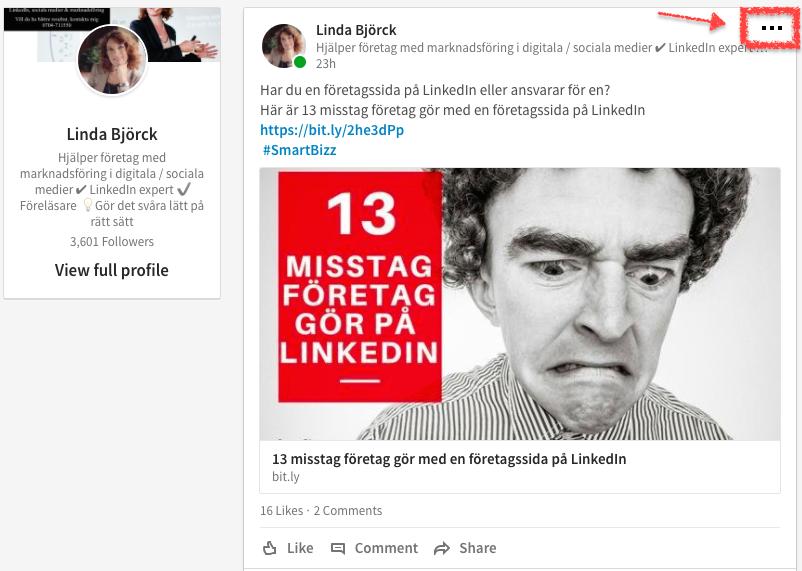 Förbättra flödet LinkedIn