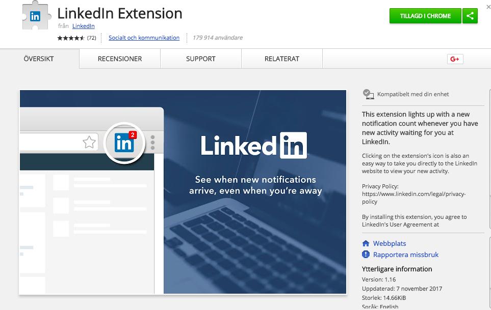LinkedIn verktyg