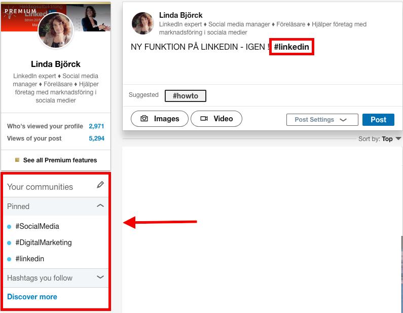 communities hashtag LinkedIn