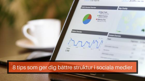 bättre struktur sociala medier