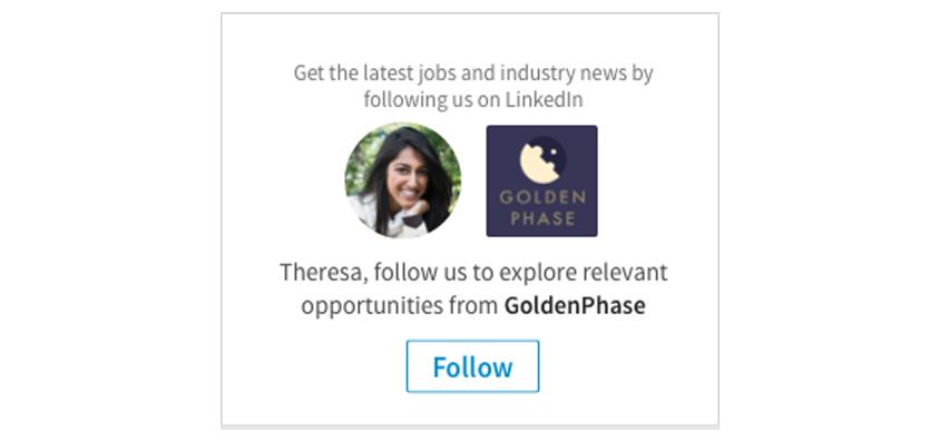 Linkedin följare annons