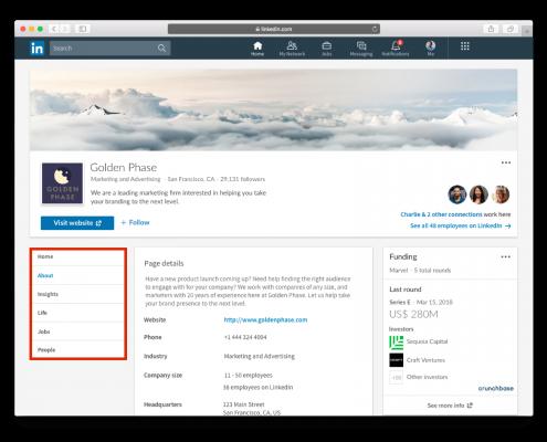crunchbase LinkedIn