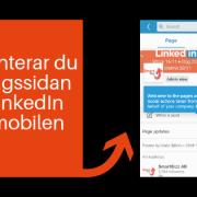 LinkedIn företagssida mobil