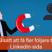följare LinkedIn företagssida