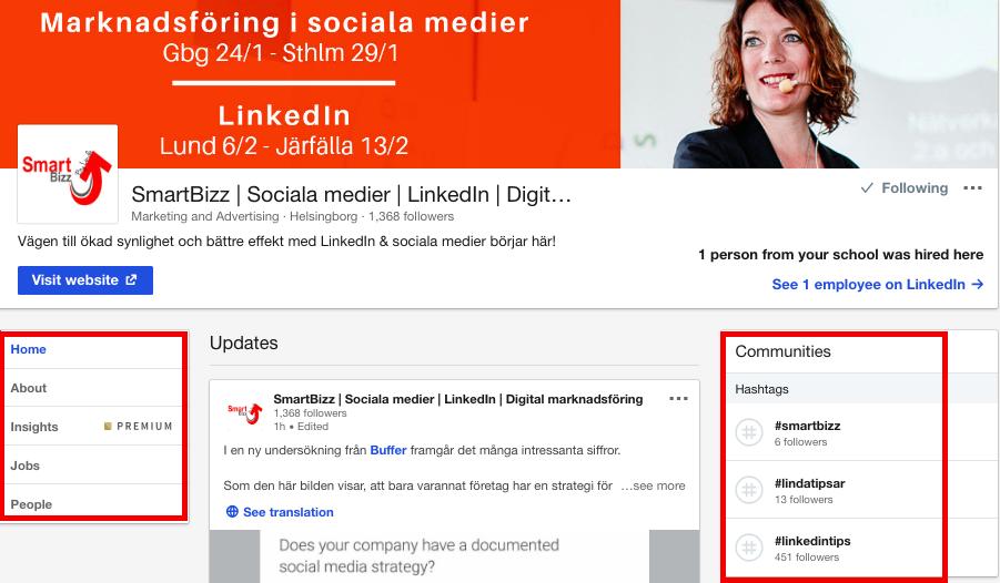 LinkedIn_företagssida_nyheter