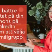 annons Linkedin målgrupp